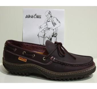 Apache suela gruesa Burdeos