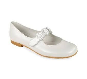 zapato comunion blanco FLOR