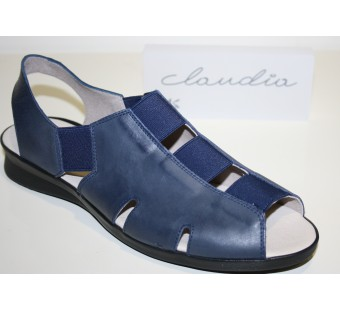 Zapato tipo sandalia color marino ancho especial