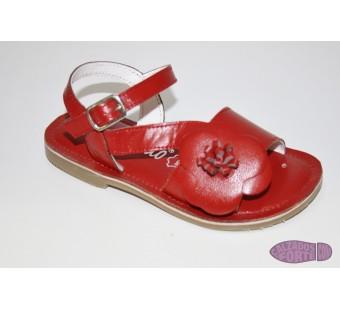 Sandalia roja Crecendo