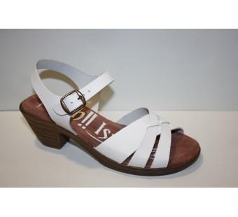 Sandalia tacón blanca