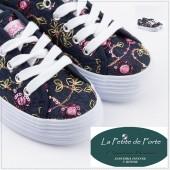Zapatillas lona.Fresas con nata