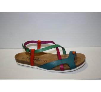 Sandalia plana planta BIO colores piel