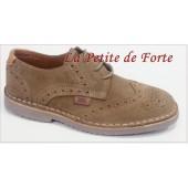 Zapato serrage taupe