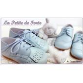 Blucher celeste.Tiny shoes