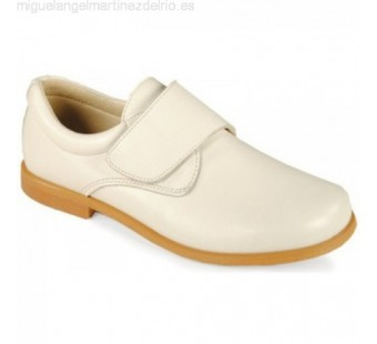 zapato comunion velcro beige