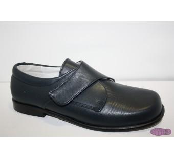 Zapato ceremonia velcro marino