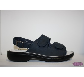 Sandalia velcro azul CRUBE